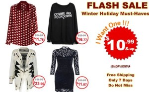 romwe winter flash sale