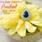 Sterling Silver Sapphire Pendant Giveaway